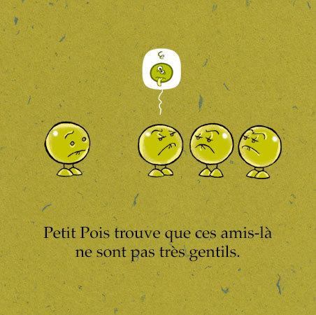 """Extrait de """"Un Petit Pois tout seul"""" Auteur, auteure, autrice : PrincessH, Editions Lapin"""