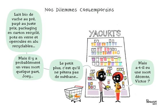 Nos Dilemmes contemporains : laitage, juste prix,  recyclage, etc. pour La Croix, le 16 janvier 2020