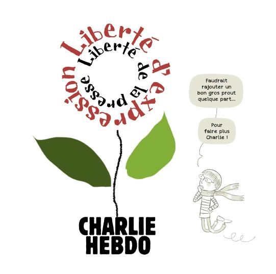 Hommage à Charlie Hebdo, pour La Croix, 7 janvier 2020