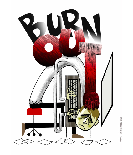 Burn out, PrincessH illustration