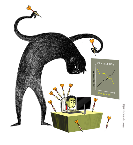 Harcèlement au travail, illustration de PrincessH