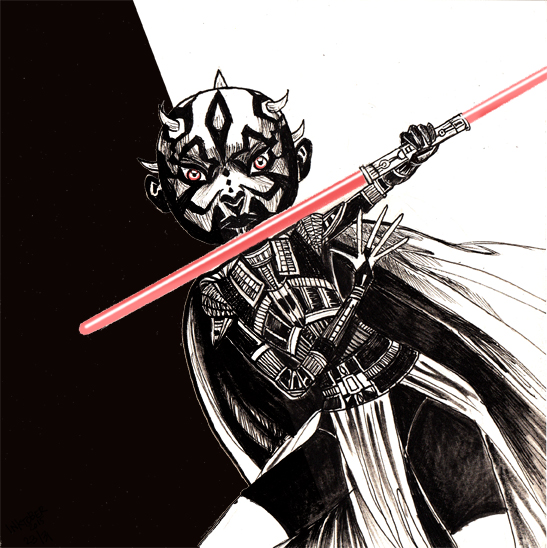 Inktober2015-23- chubby cheeks Darth Maul- Darth Maul joufflu.