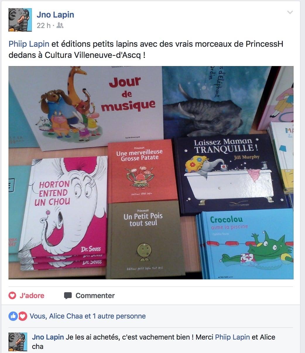 Grosse Patate et Petit Pois chez Cultura, à Villeneuve d'Ascq !