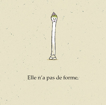 """Extrait de """"Une grande Asperge"""" Auteur, auteure, autrice : PrincessH, Editions Lapin"""