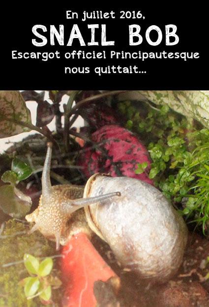 Commémoration du décès de Robert l'escargot Officiel de la Principauté